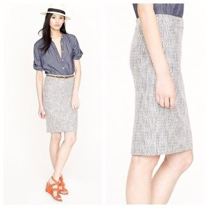 J. Crew No 2 Pencil Terrazzo Tweed Skirt